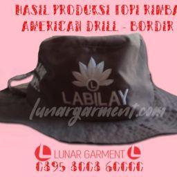 Hasil Produksi Topi Rimba American Drill dengan Bordir