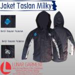 Hasil Produksi Jaket Taslan Milky+Dryfit Pelabuhan Indonesia