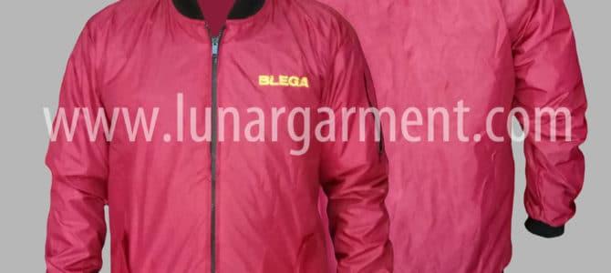 Hasil Produksi Dan Desain Jaket Parasut Milky PLN Rayon Blega