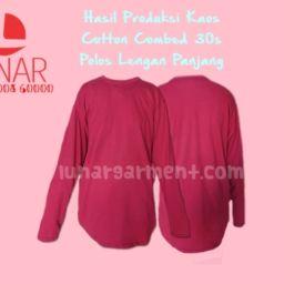 Hasil Produksi Kaos Polos Lengan Panjang – Cotton Combed 30s