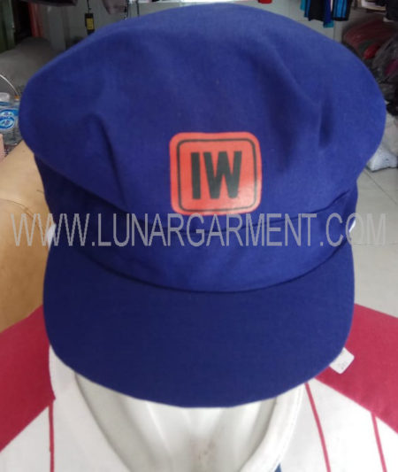 Topi Bahan Drill Indo World (Depan)