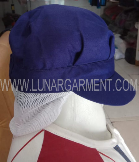 Topi Bahan Drill Indo World (Samping)