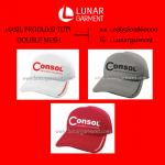 Hasil Produksi Dan Desain Topi Consol Double Mesh
