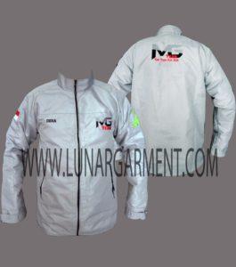 Hasil Produksi Dan Desain Jaket Taslan Waterproof MG Team