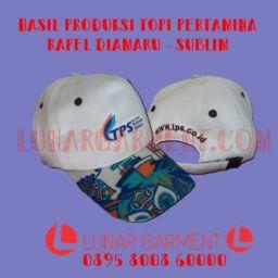 Hasil Produksi Topi Terminal Peti Kemas Surabaya - Rapel Daimaru ft Sublim