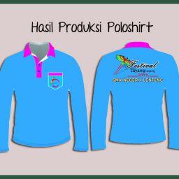 Hasil Produksi Dan Desain Polo Lacoste Catton Lengan Panjang Dari Festival Layang-Layang Sumenep Madura